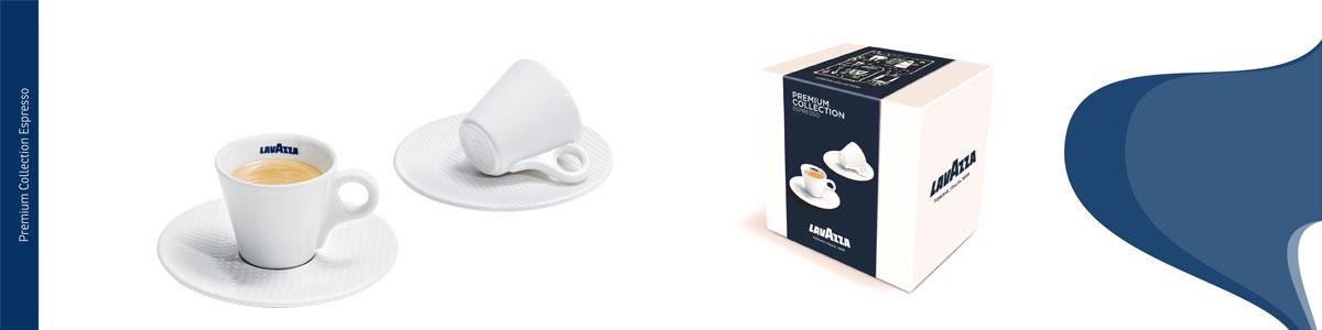 Lavazza espresso üvegpohár és espresso porceláncsésze